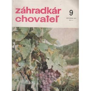 Záhradkár chovateľ 9/1972