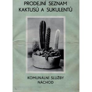 Prodejní seznam  kaktusů a sukulentů