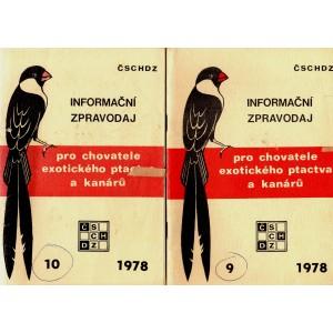Informační zpravodaj pro chovatele exotického ptactva a kanárů 9, 10/1978