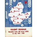 Kol.: Volebný Program Národného frontu SSR okres Levice na roky 1981 - 1985